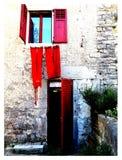 Κόκκινο παράθυρο της Κροατίας στοκ φωτογραφίες με δικαίωμα ελεύθερης χρήσης