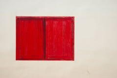 κόκκινο παράθυρο Στοκ Εικόνες