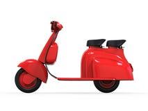 Κόκκινο παλαιό εκλεκτής ποιότητας μηχανικό δίκυκλο Στοκ Εικόνες