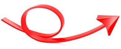 κόκκινο πεζοδρομίων ανασκόπησης βελών στοκ φωτογραφία με δικαίωμα ελεύθερης χρήσης