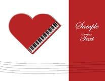 Κόκκινο πιάνο Στοκ Φωτογραφίες