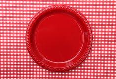 κόκκινο πιάτων γευμάτων Στοκ Εικόνες