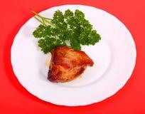 κόκκινο πιάτων κρέατος αν&alph Στοκ Εικόνες