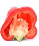 Κόκκινο πιπέρι αποκοπών σε ένα λευκό Στοκ Εικόνες
