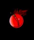 Κόκκινο πιπέρι σε ένα γυαλί με ένα κόκκινο υγρό Διανυσματική απεικόνιση