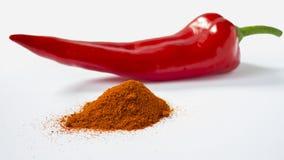 Κόκκινο πιπέρι στη σκόνη Στοκ Εικόνες