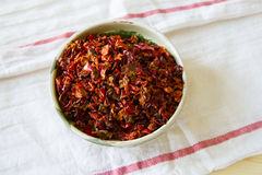 κόκκινο πιπεριών νιφάδων Στοκ Εικόνα