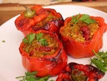 κόκκινο πιπεριών που γεμί&zet Στοκ εικόνες με δικαίωμα ελεύθερης χρήσης