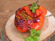 κόκκινο πιπεριών που γεμί&zet Στοκ Εικόνες