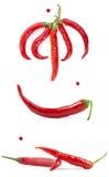 κόκκινο πιπεριών τσίλι στοκ εικόνες