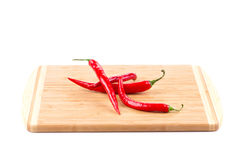 κόκκινο πιπεριών τσίλι δε&sig Στοκ Εικόνα