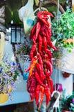 κόκκινο πιπεριών τσίλι δε&sig Στοκ εικόνα με δικαίωμα ελεύθερης χρήσης