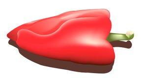 κόκκινο πιπεριών Απεικόνιση αποθεμάτων