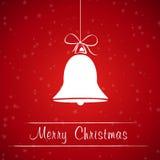 Κόκκινο πλαίσιο κουδουνιών Χριστουγέννων Στοκ φωτογραφία με δικαίωμα ελεύθερης χρήσης