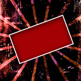 κόκκινο πλαισίων grunge Στοκ Εικόνες