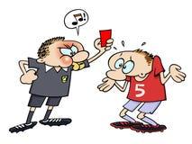 κόκκινο ποδόσφαιρο καρτώ&n Στοκ Εικόνες