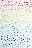 Κόκκινο, πορτοκάλι, κίτρινος, πράσινος, μπλε, λουλάκι και βιολέτα Χρωματισμένα ουράνιο τόξο σταγονίδια στοκ φωτογραφίες με δικαίωμα ελεύθερης χρήσης