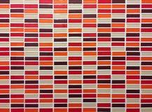 κόκκινο πορτοκαλί και καφετί άνευ ραφής σχέδιο κεραμιδιών μωσαϊκών - αφηρημένο υπόβαθρο για το συνεχές αντίγραφο Στοκ φωτογραφίες με δικαίωμα ελεύθερης χρήσης