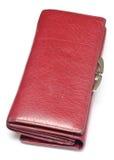 Κόκκινο πορτοφόλι Στοκ εικόνα με δικαίωμα ελεύθερης χρήσης