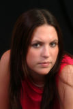 κόκκινο πορτρέτου φορεμά&t στοκ εικόνες με δικαίωμα ελεύθερης χρήσης