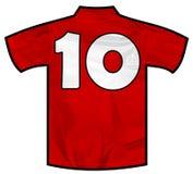 Κόκκινο πουκάμισο δέκα Στοκ εικόνες με δικαίωμα ελεύθερης χρήσης