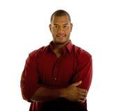 κόκκινο πουκάμισο ατόμων ό& στοκ εικόνες με δικαίωμα ελεύθερης χρήσης