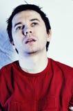 κόκκινο πουκάμισο τ ατόμω Στοκ Εικόνα