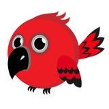 Κόκκινο πουλί Στοκ εικόνα με δικαίωμα ελεύθερης χρήσης