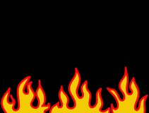 κόκκινο προτύπων φλογών καψίματος Στοκ Φωτογραφία