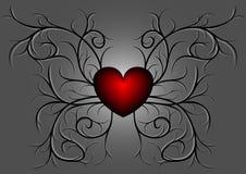 κόκκινο προτύπων 4 καρδιών διανυσματική απεικόνιση