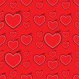 Κόκκινο πρότυπο καρδιών αγάπης διανυσματική απεικόνιση