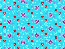 Κόκκινο πρότυπο καρδιών Στοκ φωτογραφία με δικαίωμα ελεύθερης χρήσης
