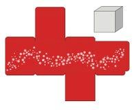 Κόκκινο πρότυπο κιβωτίων Στοκ Φωτογραφία