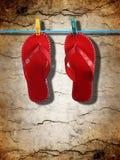 κόκκινο πτώσεων κτυπήματ&omicron Στοκ Εικόνα