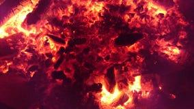 Κόκκινο πυράκτωσης χοβόλεων Στοκ Φωτογραφίες