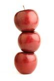 κόκκινο πυραμίδων μήλων Στοκ Φωτογραφία