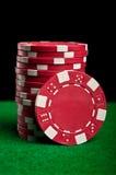 κόκκινο πόκερ τσιπ Στοκ Εικόνα