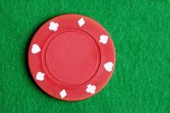 κόκκινο πόκερ τσιπ Στοκ εικόνες με δικαίωμα ελεύθερης χρήσης