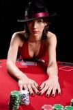 κόκκινο πόκερ φορεμάτων Στοκ εικόνες με δικαίωμα ελεύθερης χρήσης