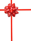 κόκκινο Πόλκα δώρων σημείω&n Στοκ φωτογραφίες με δικαίωμα ελεύθερης χρήσης