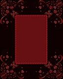 Κόκκινο πλαίσιο γυαλιού με τις πεταλούδες και τις καρδιές Στοκ Φωτογραφίες
