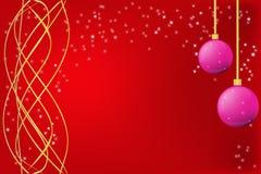 Κόκκινο πλαίσιο Χριστουγέννων Στοκ εικόνες με δικαίωμα ελεύθερης χρήσης