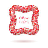 Κόκκινο πλαίσιο Lollipop απεικόνιση αποθεμάτων
