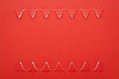 κόκκινο πλαισίων Χριστο&upsil Στοκ Εικόνες