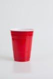 Κόκκινο πλαστικό γυαλί Στοκ φωτογραφίες με δικαίωμα ελεύθερης χρήσης