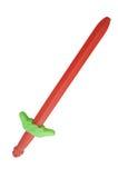 Κόκκινο πλαστικό ξίφος παιχνιδιών Στοκ εικόνες με δικαίωμα ελεύθερης χρήσης