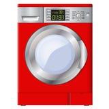 Κόκκινο πλυντήριο σε ένα άσπρο υπόβαθρο απομονωμένος διάνυσμα Στοκ φωτογραφία με δικαίωμα ελεύθερης χρήσης