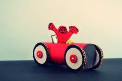 Κόκκινο ράλι φιαγμένο από χαρτόνι και έγγραφο Στοκ Φωτογραφίες