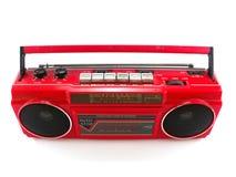 Κόκκινο ραδιόφωνο κασετών Στοκ Εικόνα