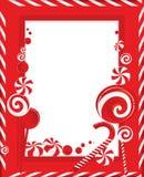 κόκκινο ριγωτό λευκό πλαισίων Στοκ Εικόνες